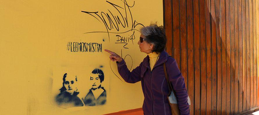 """Grafitis """"mistralianos"""" causan molestia entre vecinos del sector céntrico de Vicuña"""
