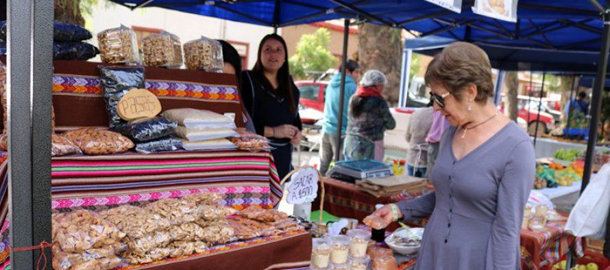 Rescatando tradiciones elquinas realizan 2da versión del mercado campesino en plaza Gabriela Mistral