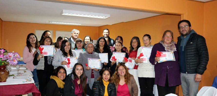 Se inician certificaciones de mujeres de Vicuña que han aprendido diversas técnicas manuales