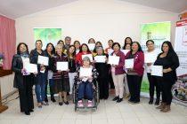 19 mujeres de Marquesa se certificaron en un taller de bordado en cinta
