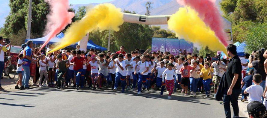 Más de 500 personas dieron vida a la 2da corrida Eclipse de Colores en Vicuña