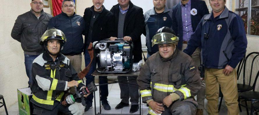 Bomberos de Vicuña cuentan con nueva motobomba para las emergencias