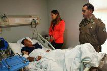 Carabinero herido tras accidente en ruta hacia Vicuña se recupera de sus lesiones