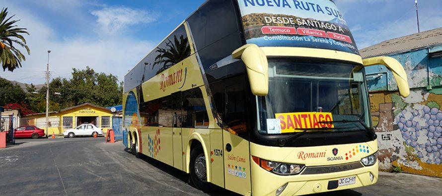 Buses Romani se suma como alternativa para viajes de Vicuña a Santiago