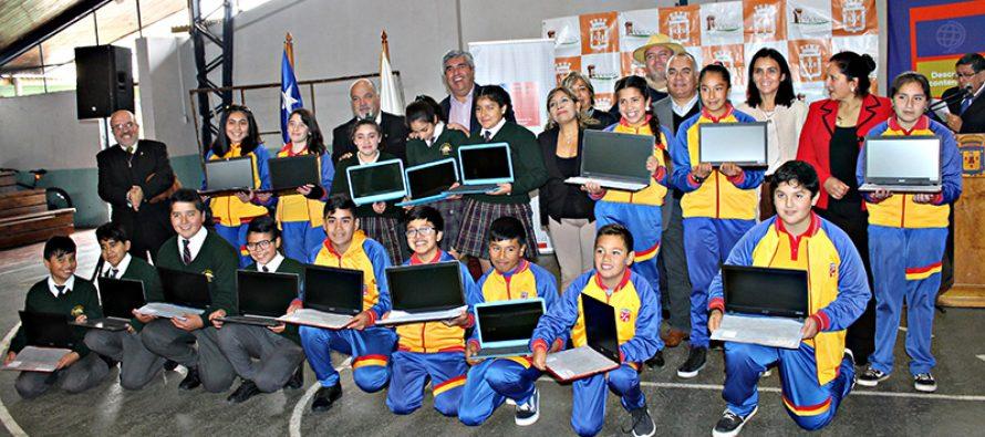 Más de doscientos computadores facilitarán el aprendizaje en estudiantes de Vicuña