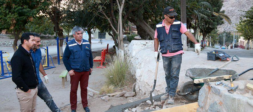 Se concretó arreglo de espacio público en sector de Rivadavia