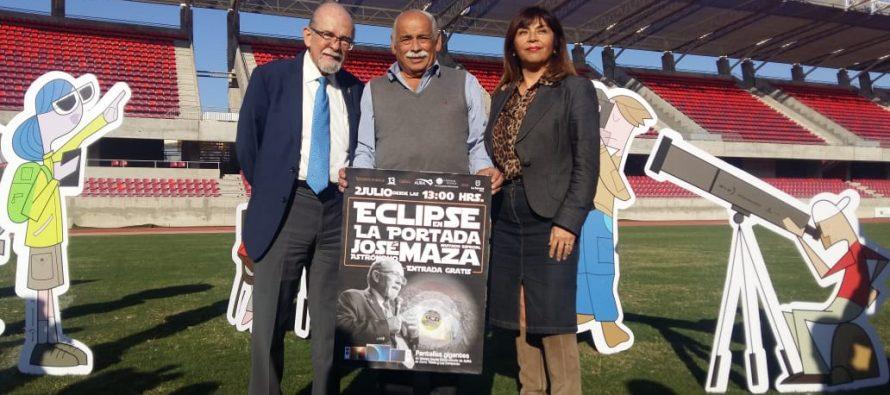 Confirmado: Doctor José Maza dictará catedra el día del eclipse en el Estadio La Portada