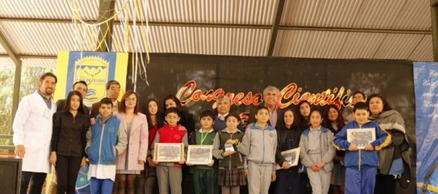 Con gran presencia estudiantil se desarrolló el 4to congreso científico en escuela de Rivadavia