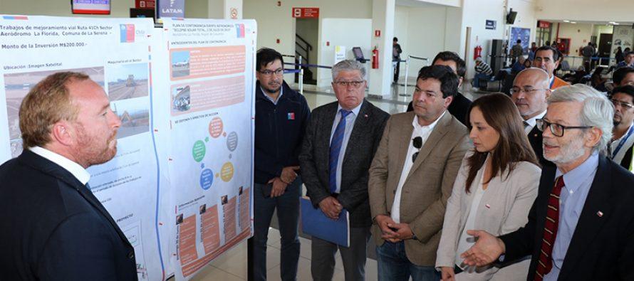 Plan de contingencia para el eclipse en Aeródromo La Serena considera mejoramiento de accesos y reforzamiento operacional