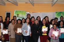 15 mujeres de Calingasta se certificaron en taller de jabonería