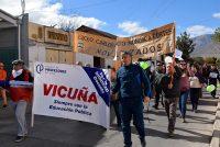Profesores de Vicuña se manifestaron por distintos sectores de la comuna