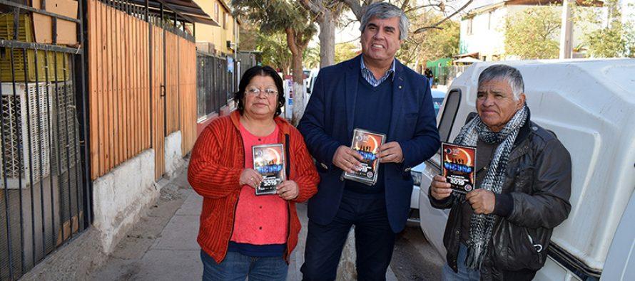 Vecinos de población Manuel Rodríguez recibieron recomendaciones sobre el eclipse total de sol