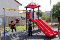 2 nuevas poblaciones en Vicuña sumaron juegos modulares para su sector