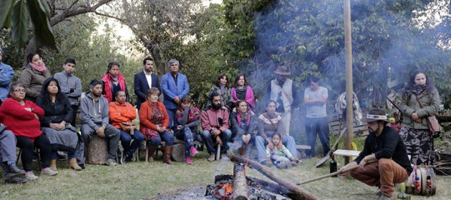 En Diaguitas se celebró la llegada del solsticio de invierno con ceremonia en torno al fuego