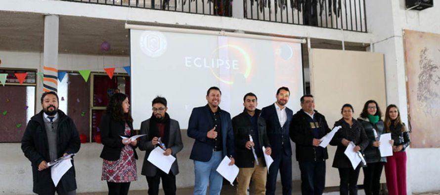 Colegio Leonardo Da Vinci de Vicuña realizó feria para prepararse para el eclipse solar total de julio