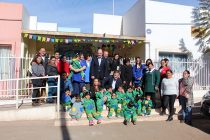 Ministro de Obras Públicas visita jardín infantil en la previa del eclipse
