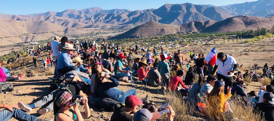 Turistas de distintas latitudes disfrutarán del eclipse solar total en la comuna de Vicuña