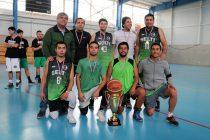 Equipo municipal se quedó con una nueva versión de la liga comunal de básquetbol