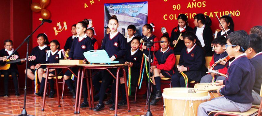Gabriela Mistral: Colegio Saturno celebra 90 años con importantes logros académicos