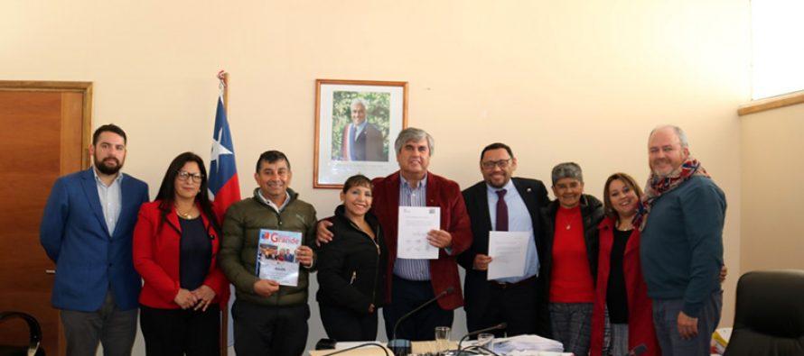 """Concejo municipal de Vicuña firma acuerdo para potenciar las """"Ciudades Amigables"""""""
