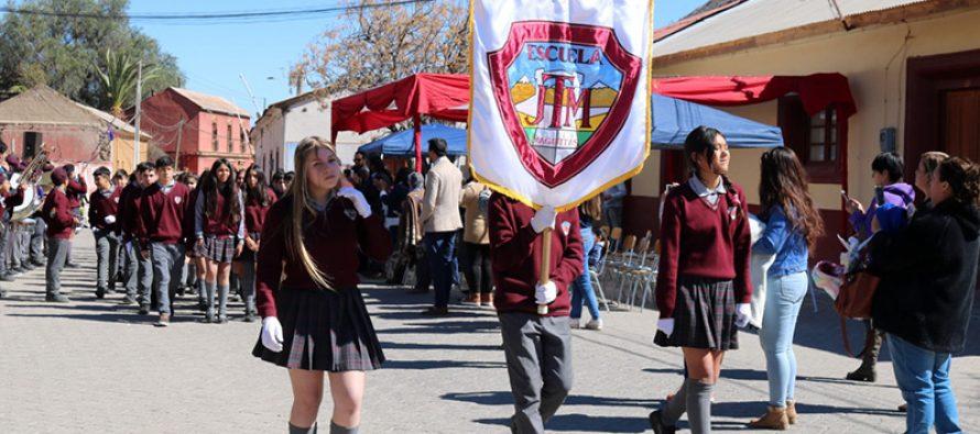 Diaguitas celebró sus 147 años de vida con desfile, actos artísticos y reconocimientos