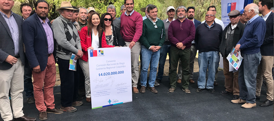 Más de 6 mil millones de pesos se entregarán en la región para apoyar a regantes en obras de riego