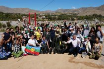 Voluntarios limpian y plantan árboles nativos en acceso al Río Elqui en Vicuña