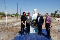 Inauguran busto de Gabriela Mistral en el nuevo Parque Libertadores de América de Caucete