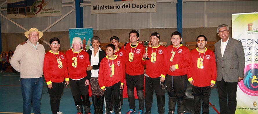 """CD Scorpions de La Serena fueron los campeones del 1er Torneo de """"Goalball"""" de Vicuña"""