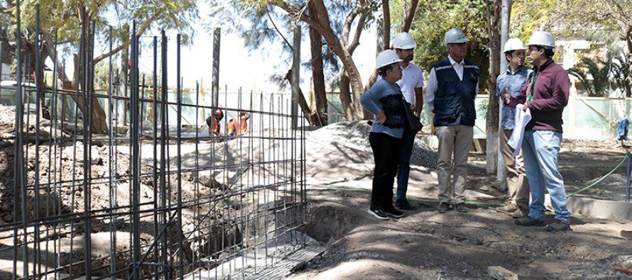 Remodelación de la plaza de El Tambo presenta un 30% de avance