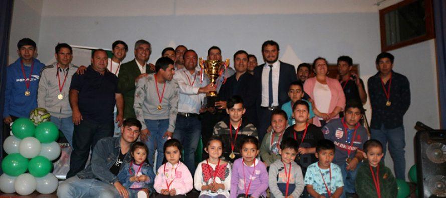 Club El Pozo de Montegrande y Unión Pisco fueron los ganadores de la liga ANFUR del Valle de Elqui