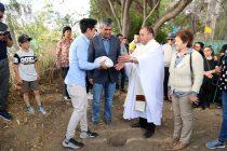 Iglesia de El Tambo instala 1ra piedra para la construcción del 1er Santuario Católico en el Elqui