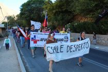 Masiva marcha se desarrolló en Paihuano por las reivindicaciones sociales