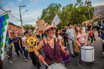 Elquinos vuelven a marchar al ritmo de una comparsa folclórica cultural