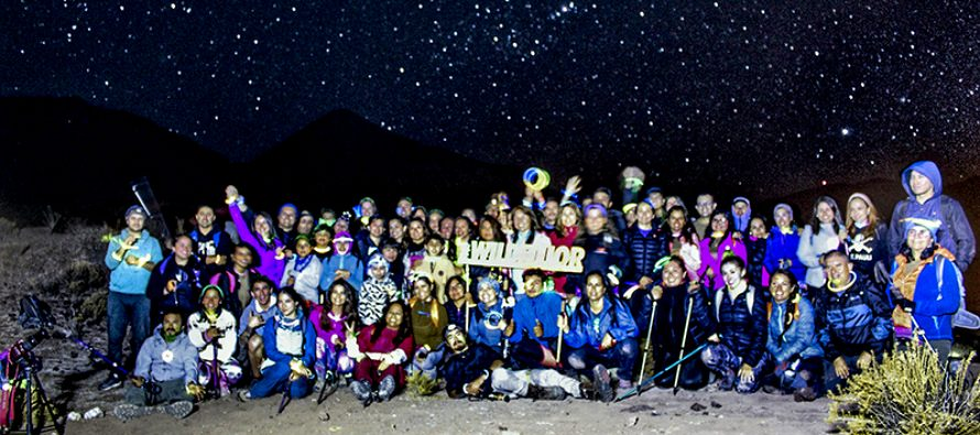 Elquinos disfrutaron de caminata nocturna hacia el Cerro El Agilucho