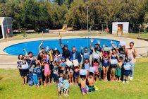 Niñas y niños del programa de natación y seguridad culminan con éxito tu taller de verano