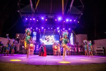 Rivadavia y Tierras Blancas estuvieron presentes en la Noche Folclórica del Carnaval Elquino