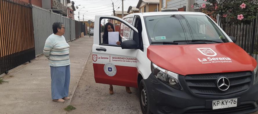 Municipio de La Serena redobla entrega de medidas preventivas a vecinos de toda la ciudad