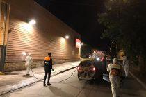 Desinfectan principales calles de Vicuña y Cesfam como medida de combate del coronavirus