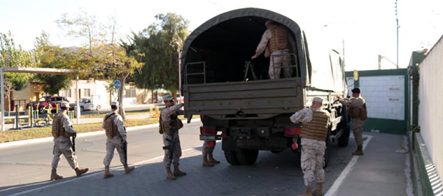 Agradecen apoyo de personal del ejército en la comuna de Vicuña