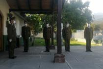 Carabineros conmemora su aniversario 93 con intimas ceremonia de izamiento de la bandera