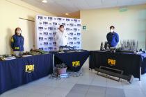 PDI logra incautar importante cantidad de armamento en Quebrada de Talca