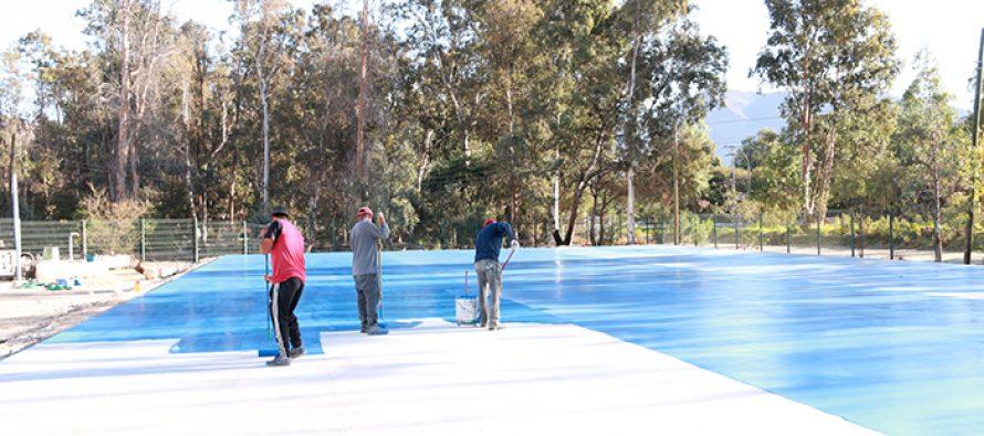 Más de un 90% de avance presenta la primera pista de patinaje de la comuna de Vicuña