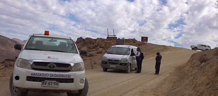 Instalan control aleatorio en sector El Pangue con el fin de evitar ingreso de no residentes a Vicuña