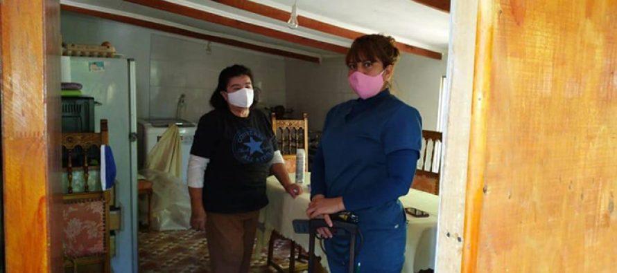 Realizan atención podológica a domicilio para adultos mayores de la comuna de Vicuña