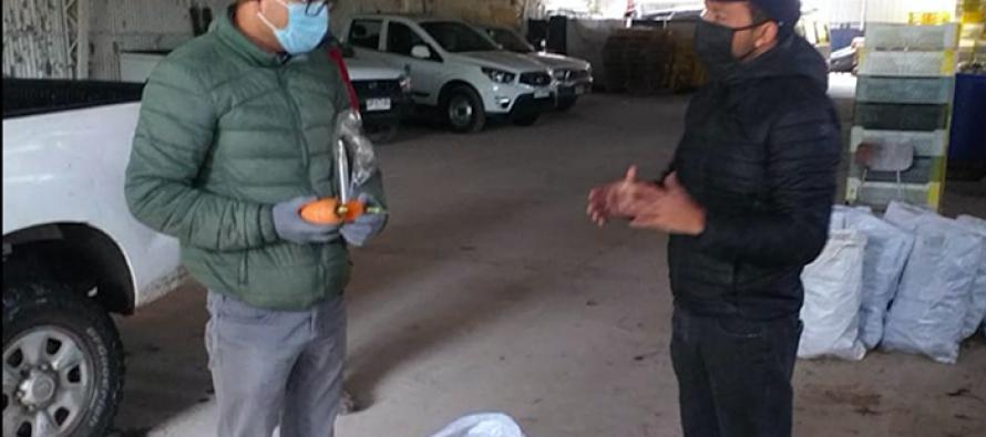 Centro Experimental INIA Vicuña hace donación de hortalizas para personas vulnerables
