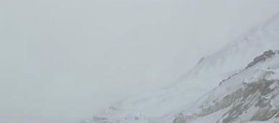 Un total de 55 centímetros de nieve cayeron este fin de semana en la cordillera
