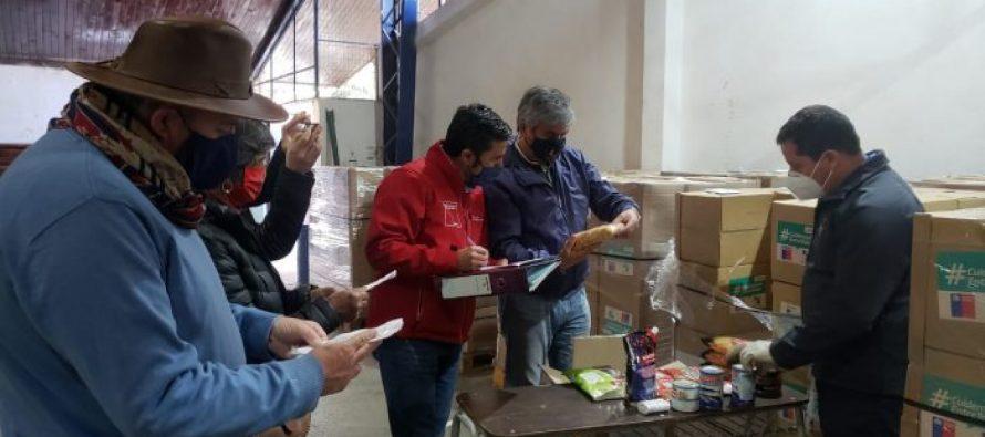 Comienza proceso de entrega de las cajas familiares del Gobierno a las familias de Vicuña
