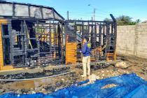 PDI investiga incendio en localidad de Calingasta