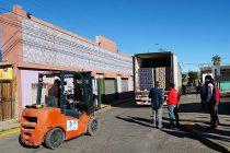Llega a Vicuña parte de las cajas de la 2da parte del programa Alimentos para Chile